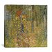"<strong>iCanvasArt</strong> ""Farm Garden with Crucifix"" Canvas Wall Art by Gustav Klimt"