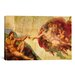 <strong>iCanvasArt</strong> 'Creation of Adam' by Michelangelo Painting Print on Canvas