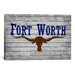 <strong>iCanvasArt</strong> Flags Fort Worth, Texas - Grunge Painted Graphic Art on Canvas