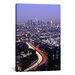 <strong>iCanvasArt</strong> Panoramic Hollywood Freeway Los Angeles, California Photographic Print on Canvas