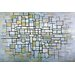 iCanvasArt 'Composition in Blue, Gray, and Pink' by Piet Mondrian Painting Print on Canvas