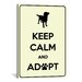 <strong>Keep Calm and Adopt Textual Art on Canvas</strong> by iCanvasArt