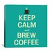 <strong>Keep Calm and Brew Coffee II Textual Art on Canvas</strong> by iCanvasArt