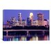 <strong>iCanvasArt</strong> Panoramic Minneapolis, Minnesota Photographic Print on Canvas