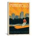 <strong>iCanvasArt</strong> 'Minneapolis, Minnesota' by Anderson Design Group Vintage Advertisement on Canvas