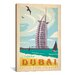 <strong>iCanvasArt</strong> 'Dubai, United Arab Emirates' by Anderson Design Group Vintage Advertisement on Canvas