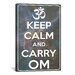 <strong>iCanvasArt</strong> Keep Calm and Carry Om Textual Art on Canvas