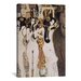 <strong>iCanvasArt</strong> 'Die Gorgonen Und Typhoeus' by Gustav Klimt Painting Print on Canvas