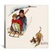 <strong>iCanvasArt</strong> 'Downhill Daring' by Norman Rockwell Painting Print on Canvas