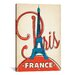 <strong>'Eifel Tower - Paris, France' by Anderson Design Group Vintage Adve...</strong> by iCanvasArt