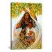 iCanvasArt 'Griot (the Storyteller)' by Keith Mallett Painting Print on Canvas