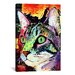 <strong>iCanvasArt</strong> 'Curiosity Cat' by Dean Russo Graphic Art on Canvas