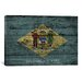 <strong>Delaware Flag, Grunge Wood Boards Graphic Art on Canvas</strong> by iCanvasArt