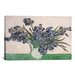 iCanvasArt 'Irises 1890' by Vincent Van Gogh Painting Print on Canvas