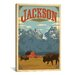 <strong>iCanvasArt</strong> 'Jackson, Wyoming' by Anderson Design Group Vintage Advertisement on Canvas