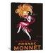 iCanvasArt Cognac Monnet Vintage  Canvas Print Wall Art