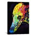 <strong>iCanvasArt</strong> 'Greyhound' by Dean Russo Graphic Art on Canvas