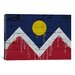 <strong>Denver Flag, Wood Planks with Paint Drips Graphic Art on Canvas</strong> by iCanvasArt