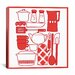 <strong>Kitchenware Collage Graphic Art on Canvas</strong> by iCanvasArt