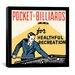 <strong>iCanvasArt</strong> Pocket Billiards for Healthful Recreation Advertising Vintage Poster