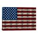 iCanvasArt One Hundred Dollar Bill, American Flag Graphic Art on Canvas