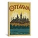 <strong>iCanvasArt</strong> 'Parliament Hill - Ottawa, Canada' by Anderson Design Group Vintage Advertisement on Canvas