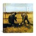 "<strong>iCanvasArt</strong> ""Peasant and Peasant-Woman Planting Potatoes"" Canvas Wall Art by Vincent van Gogh"