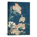 <strong>iCanvasArt</strong> 'Peonies and Canary' by Katsushika Hokusai Painting Print on Canvas
