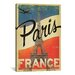 <strong>iCanvasArt</strong> 'Paris, France' by Anderson Design Group Vintage Advertisement on Canvas