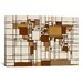 iCanvasArt 'World Map Abstract Mondrian Style' by Michael Tompsett Graphic Art on Canvas