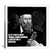 iCanvasArt Nostradamus Quote Canvas Wall Art