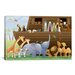 <strong>iCanvasArt</strong> Kids Children Noah's Ark Canvas Wall Art