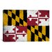 iCanvasArt Maryland Flag, Grunge Painted Graphic Art on Canvas