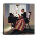 iCanvasArt 'Mending the Flag' by Norman Rockwell Painting Print on Canvas