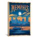 <strong>iCanvasArt</strong> 'Memphis, Tennessee' by Anderson Design Group Vintage Advertisment on Canvas