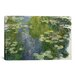 iCanvasArt 'Le Bassin Aux Nympheas' by Claude Monet Painting Print on Canvas
