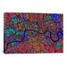 <strong>'London Map (Abstract) V' by Michael Tompsett Graphic Art on Canvas</strong> by iCanvasArt