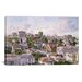 <strong>iCanvasArt</strong> 'Los Angeles, Bunker Hill from Congretional Church California 1898' by Stanton Manolakas Painting Print on Canvas