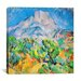 "<strong>iCanvasArt</strong> ""La Montagne St. Victoire"" Canvas Wall Art by Paul Cezanne"