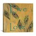 "<strong>iCanvasArt</strong> ""Live, Lough and Love"" Canvas Wall Art by Marcus Jules"