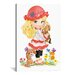 <strong>iCanvasArt</strong> Decorative Art 'Little Blond Girl with a Red Hat Holding Puppy' by Alfredo Painting Print on Canvas