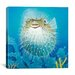 "<strong>iCanvasArt</strong> ""Puffer Fish"" Canvas Wall Art by Durwood Coffey"