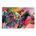 iCanvasArt 'Race 2' by Richard Wallich Painting Print on Canvas