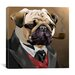 <strong>'Pug Clothes_001' by Brian Rubenacker Graphic Art on Canvas</strong> by iCanvasArt