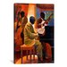 iCanvasArt 'Piano Man' by Keith Mallett Painting Print on Canvas