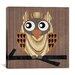 "iCanvasArt ""Owl 1"" Canvas Wall Art by Erin Clark"