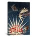 <strong>'Pétrole Stella French Lighting Oil' Vintage Advertisment on Canvas</strong> by iCanvasArt