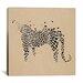 iCanvasArt Modern Art Leopard Print Painting Print on Canvas