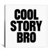 iCanvasArt Modern Art Cool Story Bro Graphic Art on Canvas