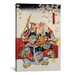 iCanvasArt 'Old Samurai Japanese Woodblock' Painting Print on Canvas